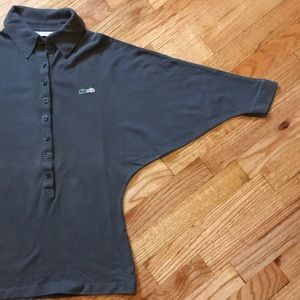 Lacoste polo shirt with batwing sleeves.